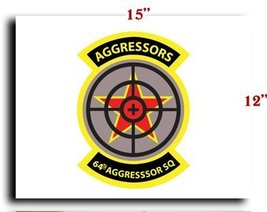 Air Force USAF 64th Aggressor Squadron CANVAS art print framed stretched... - $20.78