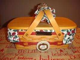 Longaberger 1996 Holiday Cheer Basket Combo Set - $48.99