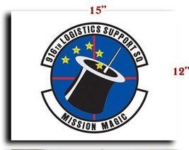 Air Force USAF 916th Logistics Support Squadron CANVAS art print framed ... - $20.78