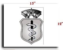 Air Force USAF Badge US Biomedical Service Corps Badge Gradient CANVAS art pr... - $20.78