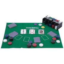 New 208 pc Casino-Style Texas Hold 'Em Poker Set Playing Cards Chips - $24.95