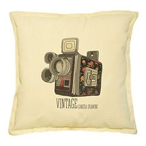 Vietsbay's Vintage Retro Camera-1 Printed Khaki Decorative Pillows Case ... - $14.39