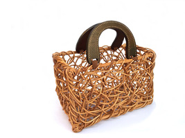 Twisted Basket Handmade Basket Handwoven Basket Picnic Basket Storage Ba... - $27.99