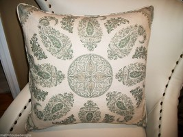 High End Moroccan Paisley Linen Accent Pillow Cover - $65.00