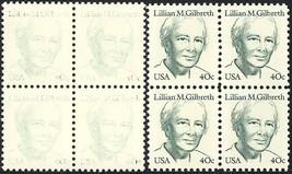 1868, EXTREME DRY PRINTING ERROR BLOCK LILLIAN GILBRETH - $44.96
