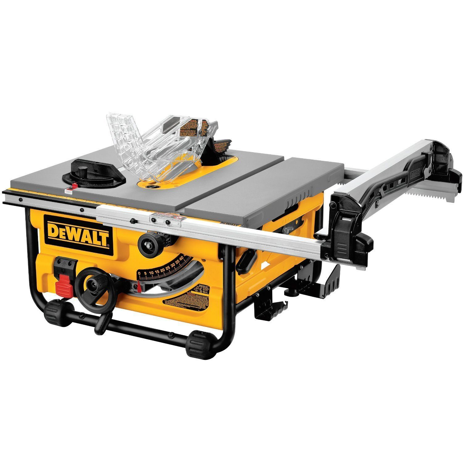 Dewalt Table Saw 10 Inch Compact Job Site 20 Inch Rip Capacity 120Volt Power New