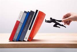 Superhero Metal Bookend Funky Home Gifts Book Design Superman Batmen Wal... - £28.68 GBP