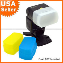 Blue+Yellow+White kit Flash Diffuser for CANON 580EX - $7.51