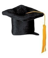 Black Graduation Cap Hair Clip Party Accessory fun accent (1 count) 3.25... - €5,97 EUR