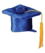 Blue Graduation Cap Hair Clip Party Accessory fun accent (1 count) 3.25 ... - $6.92