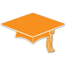 "Beistle 10 Mini Grad Cap Cutouts 6"" - Orange - $4.90"