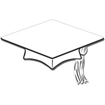"Beistle 10 Mini Grad Cap Cutouts 6"" - White - $4.90"