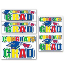 Beistle Congrats Grad Auto-Clings - $13.85