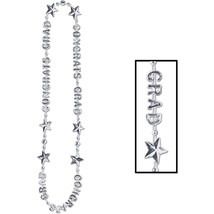 "Beistle Congrats Grad Beads-Of-Expression 36"" - Silver - $4.64"