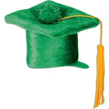 Green Graduation Cap Hair Clip Party Accessory fun accent (1 count) 3.25... - $6.92