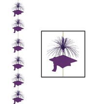 Purple graduation Cap Hanging Firework Stinger danglers grad hat whirls ... - ₨550.31 INR