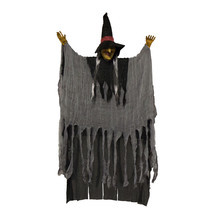Scary Flashing Howling Light up LED Hanging Witch Figure Halloween Decor... - $19.99