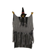 Scary Flashing Howling Light up LED Hanging Witch Figure Halloween Decor... - $24.99