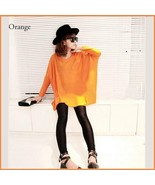 Many Colors Oversized Comfy Pull Over Knitted Long Tunic Batwing Sleeved... - $48.95