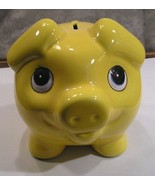 "Piggy Bank - Large Yellow ""PIG"" piggy bank. w/fish designs on body - $11.88"