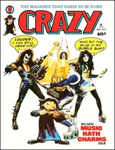 "KISS Band ""CRAZY"" Magazine Cover Reproduction Stand-Up Display - Gift Ro... - $15.99"