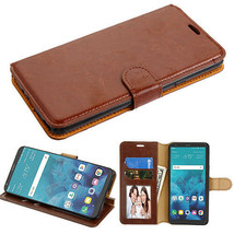 For LG Stylo 4 Leather Flip Wallet Phone Case Protector Cover Stand Pouc... - $7.42