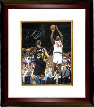 Charles Oakley signed New York Knicks 16X20 Photo Custom Framed - £103.10 GBP