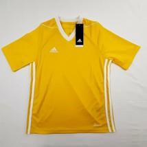Adidas Tiro Boys Athletic Jersey Shirt Size Medium Yellow RM2 - $13.85