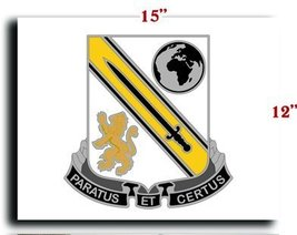 US Army 903rd Support Battalion DUI CANVAS art print framed stretched 15... - $20.78