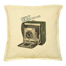 Vietsbay's Vintage Retro Camera-7 Printed Khaki Decorative Pillows Case ... - $14.39