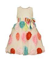 Bonnie Jean Little Girls Multi Colored Bonaz Circle Dress, Aqua, 6 [Apparel]
