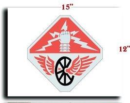 "US Army 124th Signal Battalion DUI CANVAS art print framed stretched 15""... - $20.78"