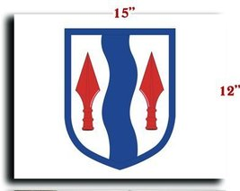 """US Army 181st Infantry Brigade SSI CANVAS art print framed stretched 15""""... - $20.78"""