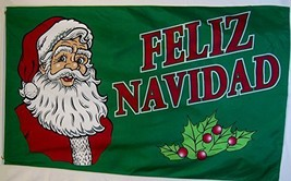 Feliz Navidad Flag 3' X 5' Indoor Outdoor Merry Christmas Banner - $9.95