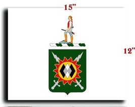 US Army 14th Psychological Operations Battalion COA CANVAS art print framed s... - $20.78