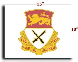 "US Army 15th Cavalry Regiment DUI CANVAS art print framed stretched 15""x12"" - $20.78"