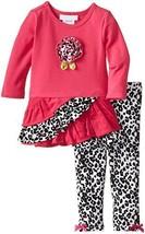 Bonnie Baby Baby Girls' Ruffle Skirt Corduroy Legging Set (3-6 Months, Fuchsia)