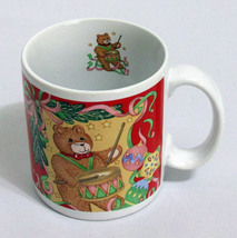 Sakura 1992 Christmas Coffee Mug 12 Ounce Teddy Bear Drummer Ornaments R... - $8.49