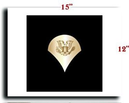 US Army Rank Enlisted Rank Brass SPC w Background Specialsit 1 CANVAS art pri... - $20.78