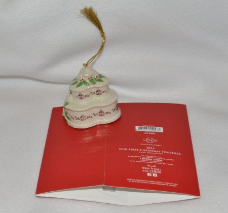 2014 Our First Christmas Together Cake Ornament image 2