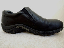 Mens Shoes Merrell Jungle Moc Size 11 D Black Leather Slip On $120 Value... - $64.34