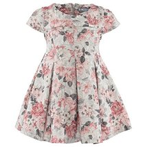 Mayoral Little Girls Floral Print Scuba Knit Fit and Flare Dress, 074-Rose Pa...