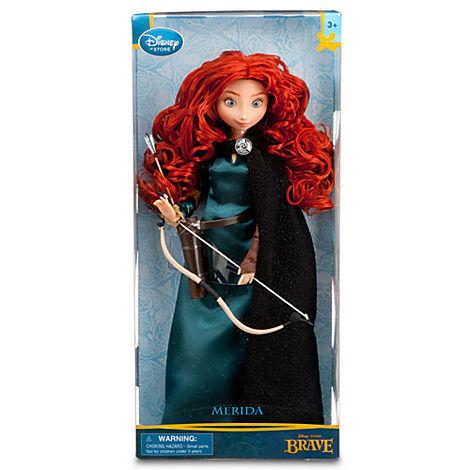 "Disney/Pixar Princess Merida Brave Classic Doll 11"""