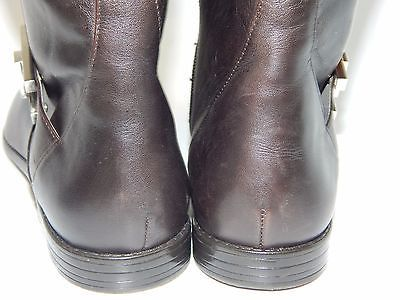 Calvin Klein Tracie Brown Leather Mid Calf Boots Women's Size US 9.5 M (B) $199