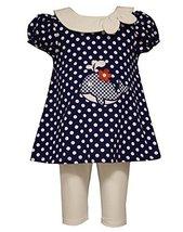 Little Girls Polka Dot Whale Applique Nautical Dress/Legging Set, Bonnie Jean... - $36.53