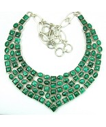 Polished Cabochon Squares and Ovals of Green Bl... - $325.94