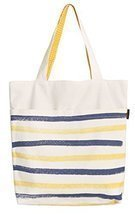 Vietsbay's Women Stripe Painting Reversible Cotton Canvas Handbags WAS_07 - $16.77