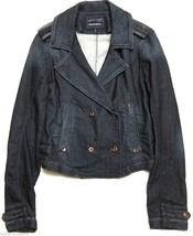 $398 Womens Diesel Jogg Jeans Marlene Military Sweat Denim Jacket sz S - $131.66