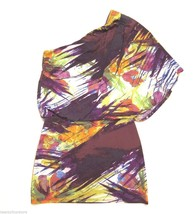 Jessica Simpson One Sleeve Off Shoulder Watercolor Floral Dress sz S - £30.61 GBP