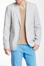 NEW $395 Mens Vince Jacket 2 Button Chambray Stripe Blazer Sports Coat sz XXL - $128.69